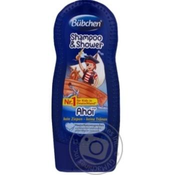 Шампунь детский Bubchen Йо-хо-хо для мытья волос и тела 230мл