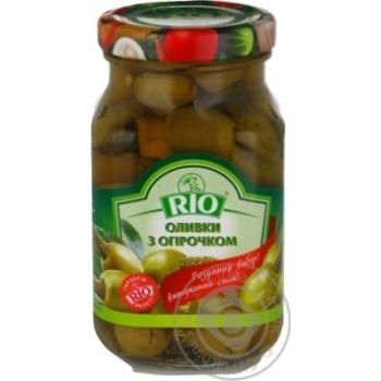 Оливки з огірочком Rio 280г - купити, ціни на CітіМаркет - фото 1