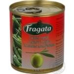 Оливки зелені з перцем гострим Халапеньо консервовані пастеризовані Fragata 200г