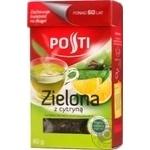 Чай зелений байховий листовий ароматизований з цедрою лимону Posti 80г