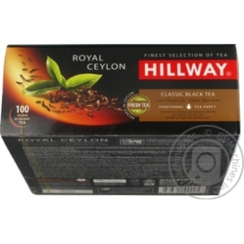 Чай Hillway чорний байховий цейлонський Royal Ceylon пакетований 2г/100/12 - купить, цены на Novus - фото 4