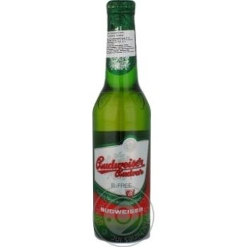 Пиво світле безалкогольне Budweiser Budvar 0,5% 0,33л скл/пл