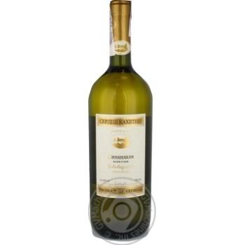 Вино 0,75л 12% біле сухе Серце Кахетії Цинандалі - купить, цены на Novus - фото 1
