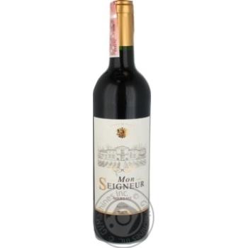 Вино Mon Seigneur Merlot червоне сухе 12,5% 0,75л - купити, ціни на Novus - фото 1