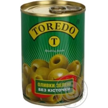 Оливки зелені без кісточки Toredo 300мл