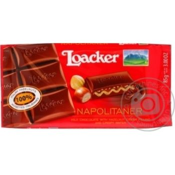 Chocolate milky Loacker with nuts 85g