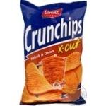 Чіпси картопляні зі смаком кебабу та цибулі Crunchips x-cut 75г