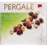 Цукерки з начинкою з ядер горіха фундука глазуровані молочним шоколадомPergale Praline Collection 120г