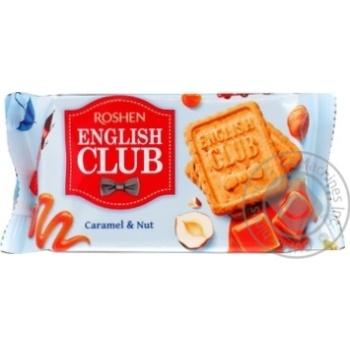 Печенье Roshen English Club карамель и орех 112г