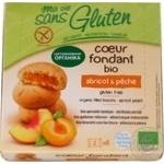 Печиво органічне безглютенове бісквітне з начинкою персик — абрикос Ma vie sans Gluten 200гр.