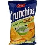 Чіпси картопляні зі смаком йогурту та кропу Crunchips x-cut 75г