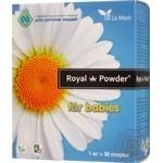 Концентрований безфосфатний пральний порошок Royal Powder Baby 1кг
