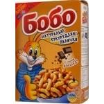 Палички кукурудзяні Бобо неглазуровані зі смаком шоколаду, карт.кор.140г