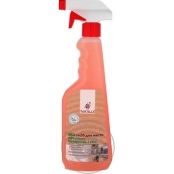 Засіб Еко для миття кухонних поверхонь і стін з антибактеріальною дією Tortilla 450мл