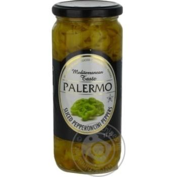 Перець острый Palermo пеперончини нарезанный пастеризованный 500мл - купить, цены на Novus - фото 1