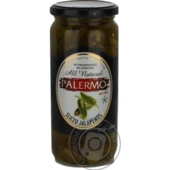 Перець гострий Palermo халапеньйо нарізаний консервований пастеризований 500мл
