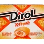 Резинка жеват Dirol X-Fresh мандариновая свежесть 18г
