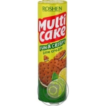 Крекер Roshen Multicake з лаймовою начинкою 135г - купити, ціни на Novus - фото 4