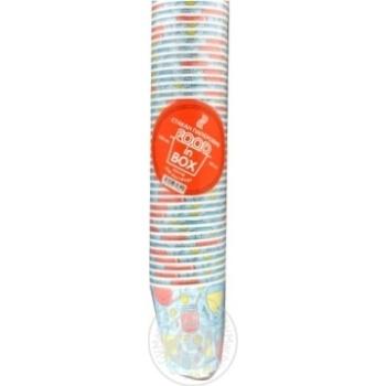 Стакани паперові Food in Box одноразові 200мл 50шт колір в асортименті - купити, ціни на Метро - фото 1
