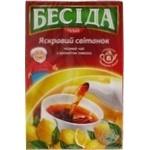 Чай чорний Яскравий світанок з ароматом лимона Бесіда 80 г