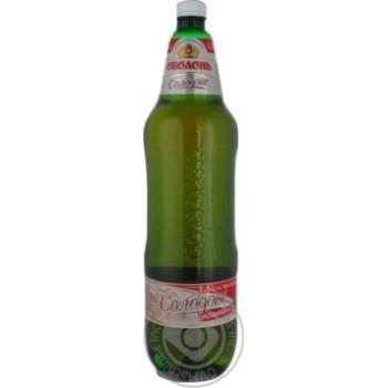 Пиво світле Оболонь Солодове 4,7% 1,5л ПЕТ
