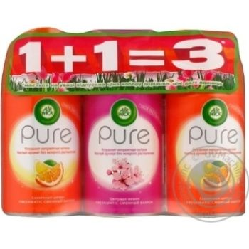 Air Wick Pure Triple Pack  1+1=3 Set of Air Fresheners - buy, prices for MegaMarket - image 1