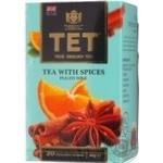 Чай ТЕТ черный с добавлением специй и фруктов 20шт*2г