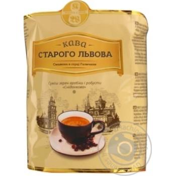 Кава зерно Кава Старого Львова На сніданок 1кг - купити, ціни на Novus - фото 1