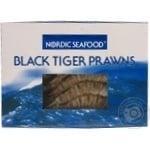 Креветки Nordic Seafood черные тигровые с головой в панцире замороженные 16/20 1кг
