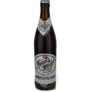 Пиво Maisel's Weisse Original светлое безалкогольн 0,5л