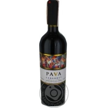 Pava Cabernet red dry wine 14% 0,75l