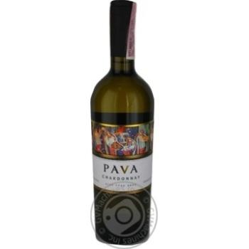Pava Chardonnay Wine white dry 9,5-14% 0,75l - buy, prices for Novus - image 2