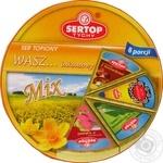 Сыр плавленый Sertop салями/грибы/зелень ассорти 27% 140г
