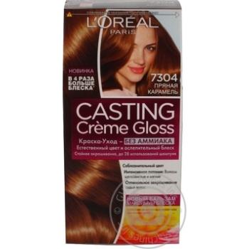 Краска-уход для волос L'Oreal Casting Creme Gloss 7304 Пряная карамель без аммиака