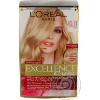 Крем-краска для волос L'Oreal Excellence Creme 10.13 Легендарный блонд