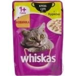 Крем-суп Whiskas для кошек с курицей 85г