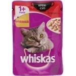 Корм для котов Whiskas Крем-суп с говядиной 85г