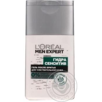 Гель після гоління з березовим соком для чутливої шкіри обличчя Loreal Men Expert Гідра Сенсітів 125мл