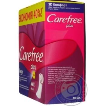 Прокладки жіночі гігієнічні Carefree Plus Large -40%48 ШТ - купити, ціни на Novus - фото 4