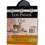 Los Pagos Chile Chardonnay white dry wine 3l