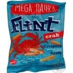 Сухарики Flint пшенично-ржаные со вкусом краба 110г