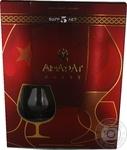 Коньяк армянский Арарат 5 звезд 40% 0,7л + коньячный бокал в подарок