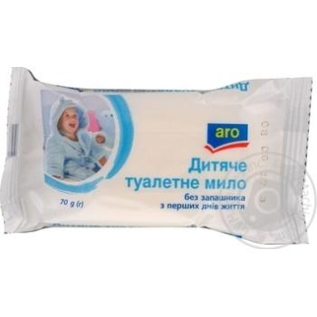 Мыло Aro Детское без запаха 70г - купить, цены на Метро - фото 1