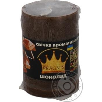 Свеча Pragnis цилиндр шоколад 55X8см