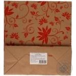 Пакет крафтовый Цветы  250Х230Х100мм