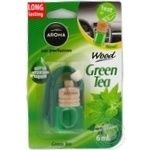 Ароматизатор Aroma Car Wood зеленый чай 6мл
