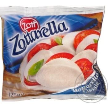 Сир Цотт Цоттарелла Класік свіжий моцарелла в розсолі 45% 125г - купити, ціни на МегаМаркет - фото 1