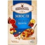 Мюсли Новоукраиннка много фруктов 400г