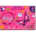 Краска гуашевая Cool for school Butterfly 6 цветов