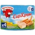 Сир плавлений 45% з хлібними паличками сімейна упаковка Весела Корівка 140г